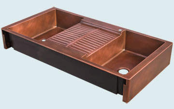 Copper Extra Large Sinks # 5082