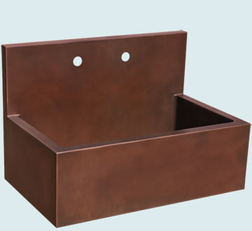 Copper Backsplash Kitchen Sinks # 5182
