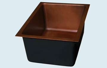 Copper Bar Sink # 2889