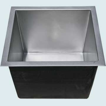 Custom Pewter Bar Sinks # 5055