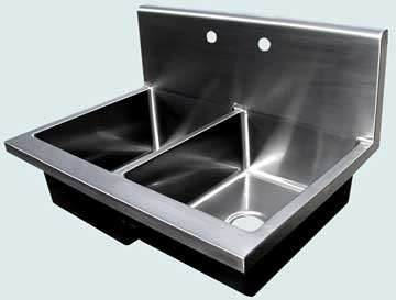 Stainless Steel Backsplash Sinks # 3702