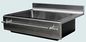 Stainless Steel Backsplash Sinks # 3722