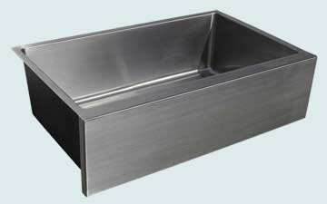 Custom Stainless Steel Farmhouse Sinks # 3731