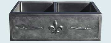 Stainless Steel Repousse Apron Sinks # 3739