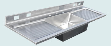 Stainless Steel Drainboard Sinks # 2988