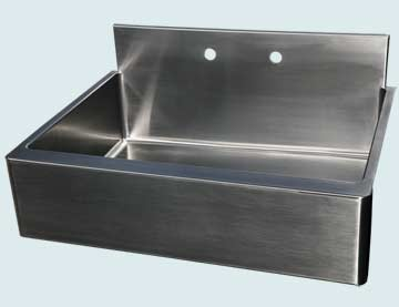Stainless Steel Backsplash Sinks # 2991