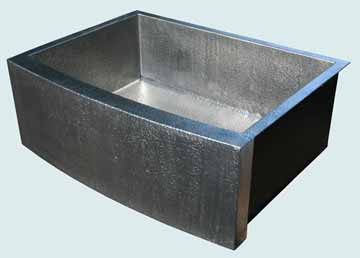 Custom Pewter Curved Apron Sinks # 3843