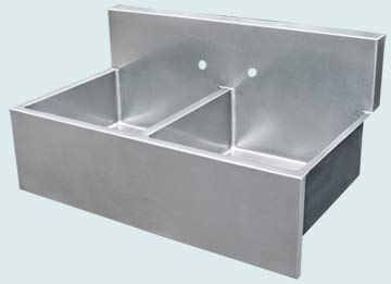 Stainless Steel Backsplash Sinks # 3685