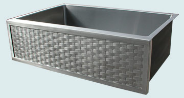 Stainless Steel Woven Apron Sinks # 3710
