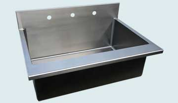 Stainless Steel Backsplash Sinks # 4041
