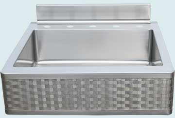 Stainless Steel Backsplash Sinks # 4660