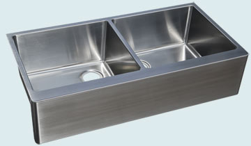 Custom Stainless Steel Farmhouse Sinks # 4747