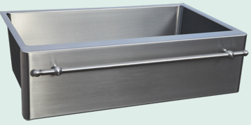 Custom Stainless Steel Farmhouse Sinks # 4845