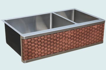 Stainless Steel Woven Apron Sinks # 4887