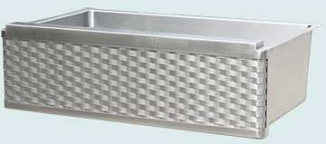 Stainless Steel Woven Apron Sinks # 4999