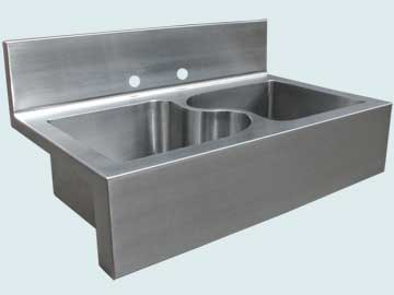 Stainless Steel Backsplash Sinks # 5012
