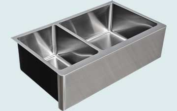 Custom Stainless Steel Farmhouse Sinks # 5145
