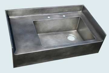 Custom Zinc Backsplash Sinks # 2983