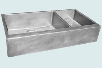 Custom Zinc Farmhouse Sinks # 3844