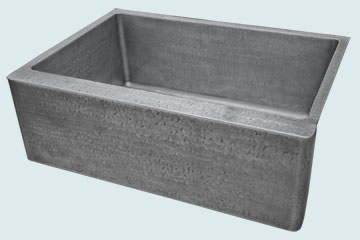 Custom Zinc Farmhouse Sinks # 3883