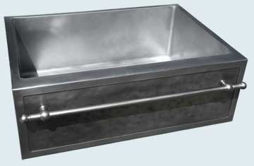 Custom Zinc Farmhouse Sinks # 4047