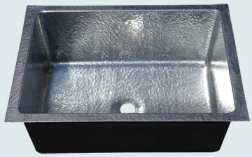 Custom Zinc Bar Sinks # 4763