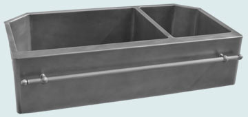 Custom Zinc Special Shape Sinks # 4791