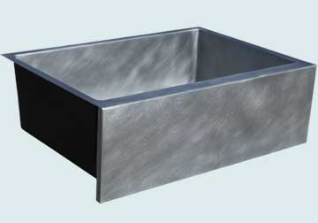 Custom Zinc Farmhouse Sinks # 4836