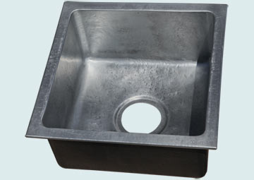 Custom Zinc Bar Sinks # 5016