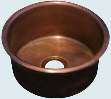 Copper Bar Sink # 2877