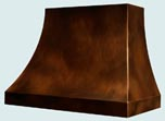 Copper Range Hoods Double Sweep