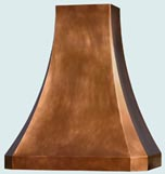 Copper Range Hoods Tall French Sweep