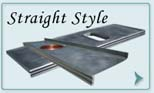 Zinc Countertops Straight