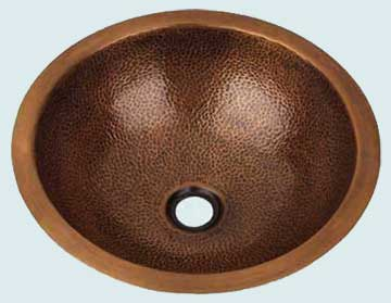 Copper Bar Sink # 1986