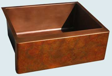 Copper Sinks Old World Patina # 3658