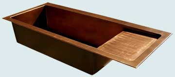 Copper Extra Large Sinks # 3407