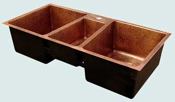 Copper Extra Large Sinks # 3457