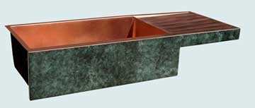 Copper Sinks Old World Patina # 3504