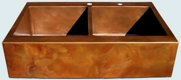 Copper Sinks Old World Patina # 3528