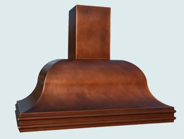 Copper Range Hood # 2746
