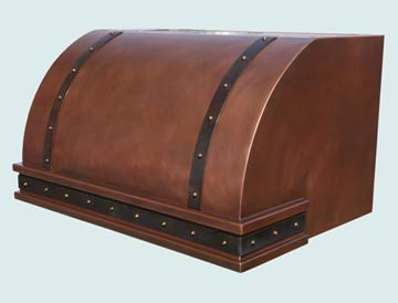 Copper Range Hood # 2748