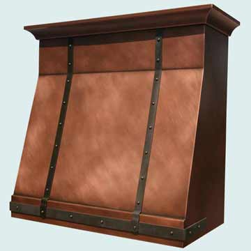 Copper Range Hood # 2781