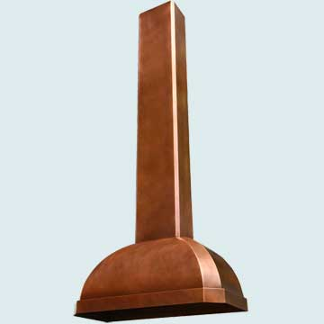 Copper Range Hood # 2959