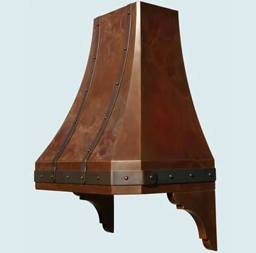 Copper Range Hood # 3001
