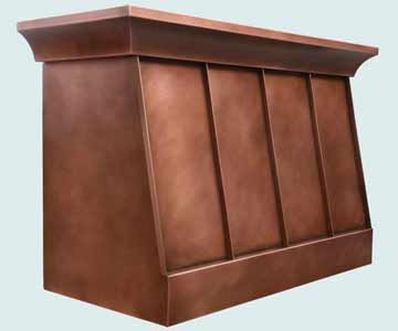 Copper Range Hood # 3962