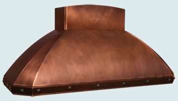 Copper Range Hood # 4209