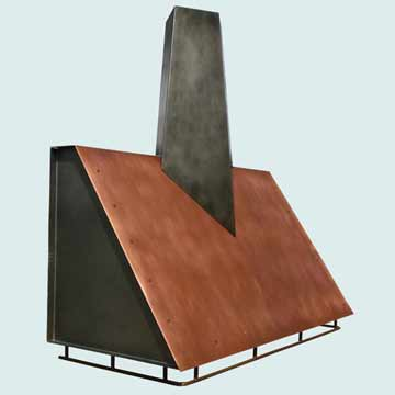 Copper Range Hood # 4316