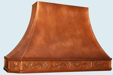 Copper Range Hood # 4432