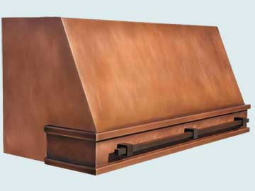 Copper Range Hood # 4450