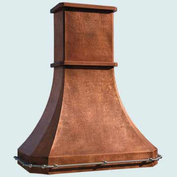 Copper Range Hood # 4476